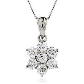 diamond drop cluster pendants