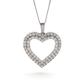 diamond heart pendants