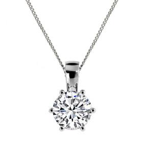 diamond solitaire pendants