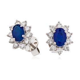 gegemstone diamond earrings
