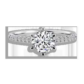 side stone diamond rings