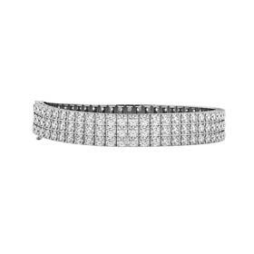 three row diamond bracelets