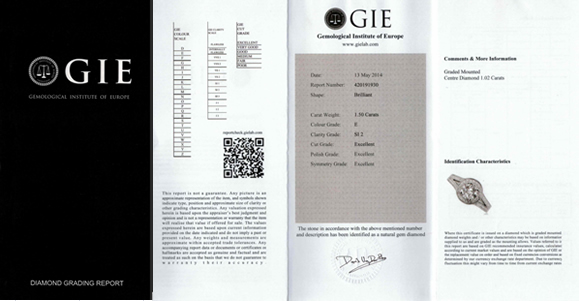 GIE certificate
